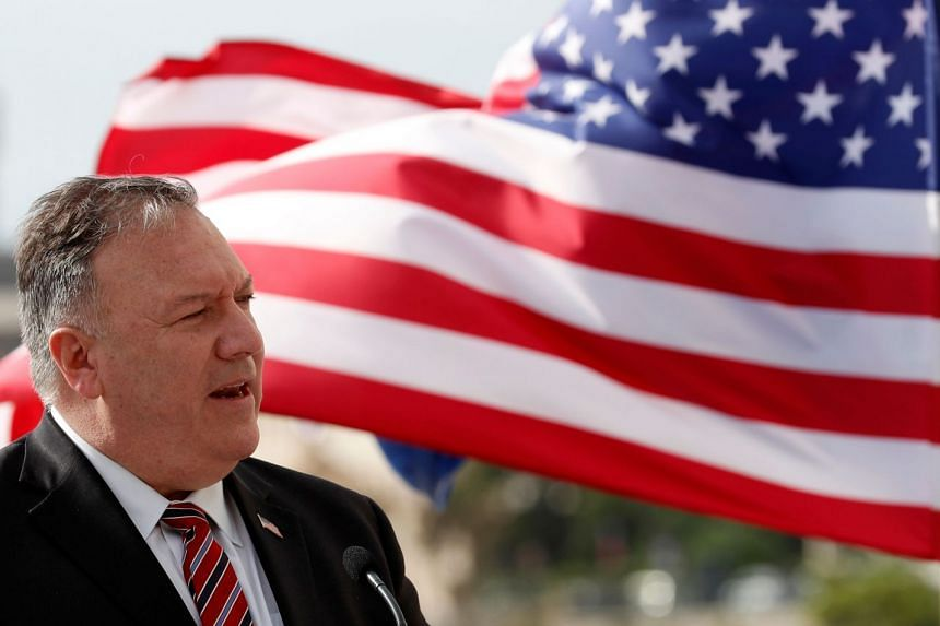 Mike Pompeo speaks during a joint press conference with Croatia's Prime Minister in Dubrovnik on Oct 2, 2020.