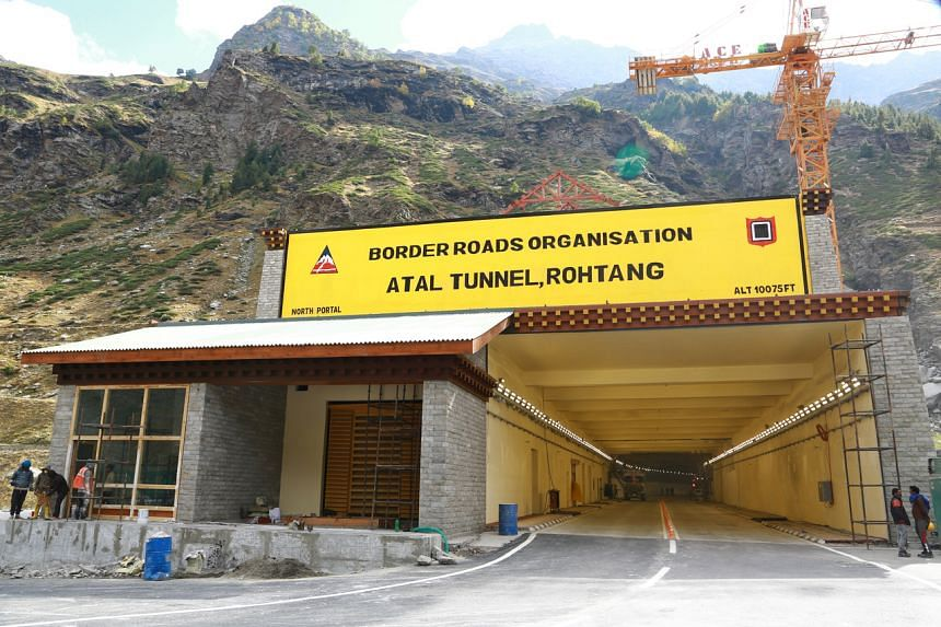 The tunnel will drastically reduce the time needed to rush troops to the country's remote Chinese border.