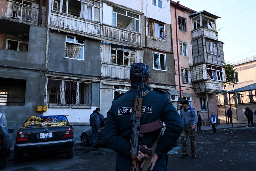 Both sides have been accused of hitting civilian areas in regional capital Stepanakert.