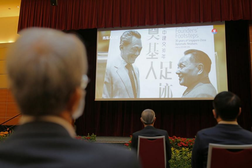 Lianhe Zaobao and its English e-magazine ThinkChina launched a picture book titled In The Founders' Footsteps: 30 years of Singapore-China Diplomatic Relations.