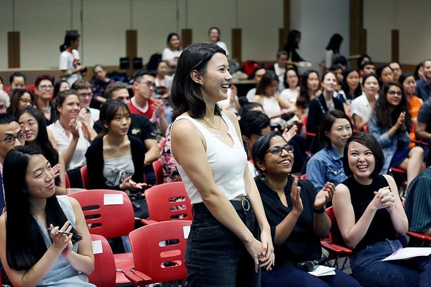 Former NUS student Monica Baey at an event organised by the Association of Women for Action and Research last November. Undergraduates said there was heightened awareness of sexual misconduct among students in the months that followed the uproar over