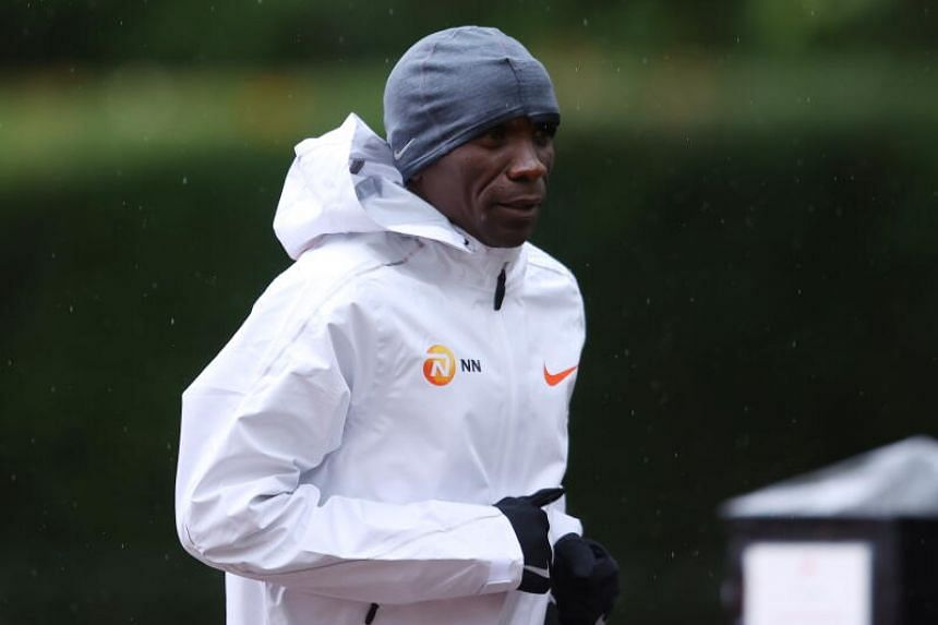 World record holder Eliud Kipchoge fluffed his lines at the London marathon on Oct 4, 2020.