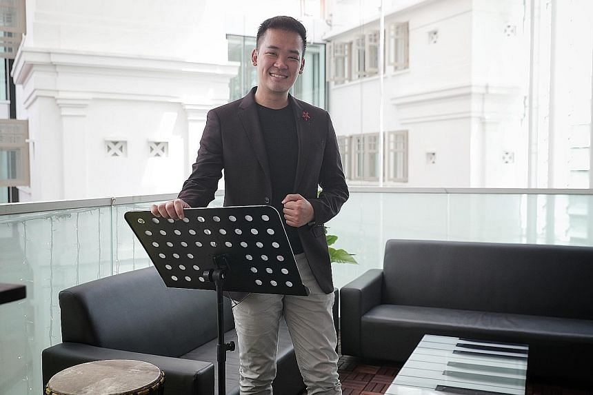 Local choral society Voices of Singapore, led by founder and artistic director Darius Lim (above), was likely one of the first choirs to hold virtual practices (left). Those weekly sessions have become a source of comfort for many through this pandem