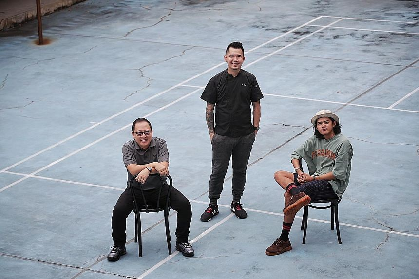 (From left) Mr David Lee, a specialised teacher at Mayflower Primary School; Mr Ken Tan, who runs his own food stall; and Mr Muhammad Ammar Nasrulhaq Abdul Karim, a choreographer and instructor with Redeafination, a hip-hop group for the deaf, were a