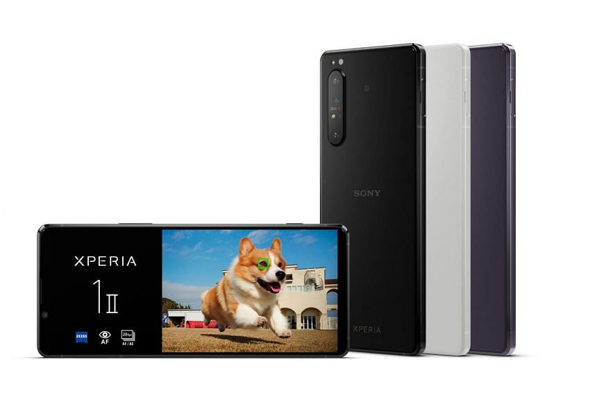 The Xperia 1 II has relatively thick top and bottom bezels to accommodate its front camera and dual stereo speakers.