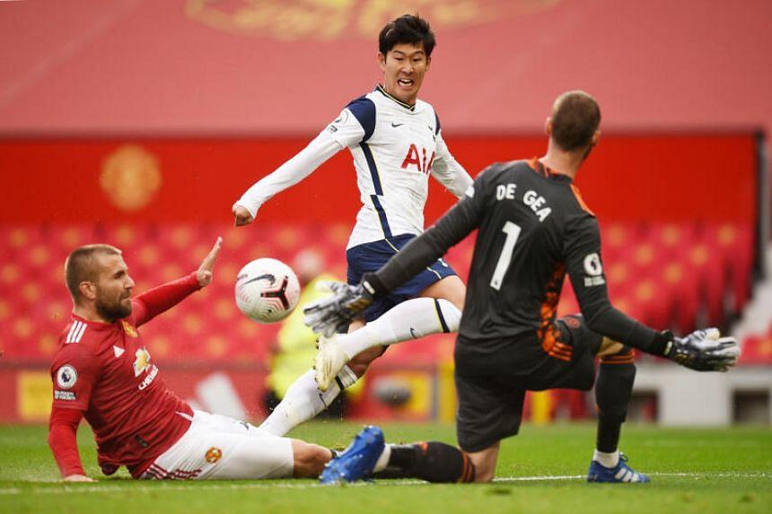 Tottenham Hotspur's Son Heung-min scores their second goal.
