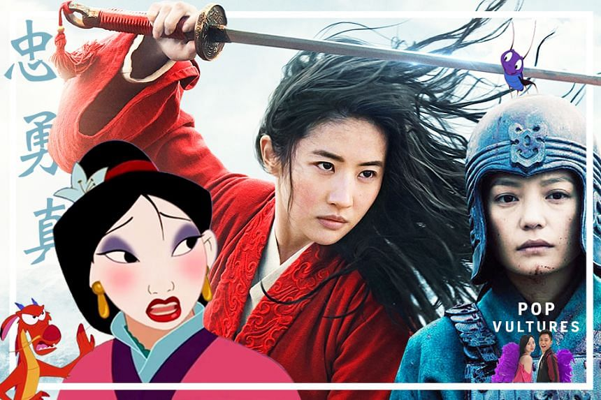 The legend of Hua Mulan as portrayed by (from left) Disney's animated musical in 1998, Liu Yifei in the 2020 live-action remake and Vicki Zhao in the 2009 China film.