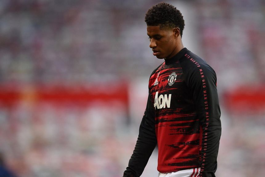 Manchester United's Marcus Rashford in Manchester, Britain, on Oct 4, 2020.