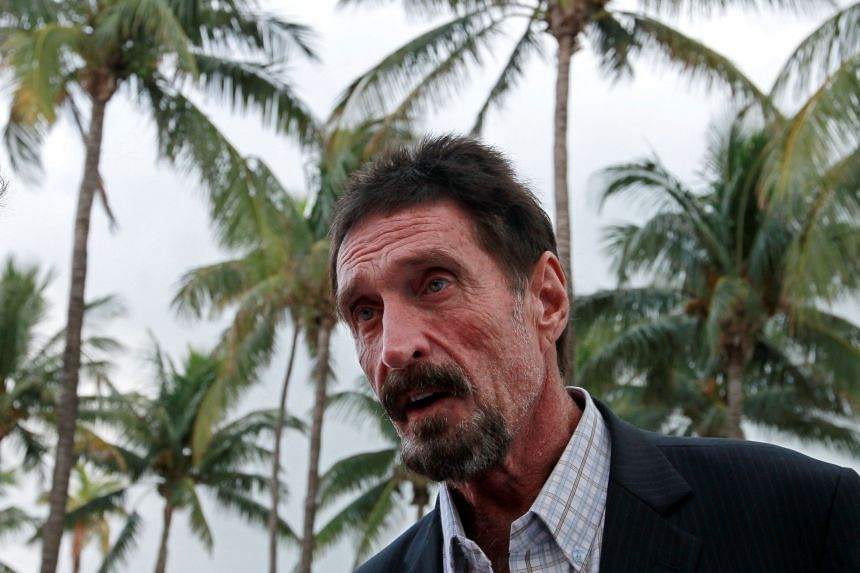 The Justice Department said McAfee failed to file any tax returns from 2014 to 2018.