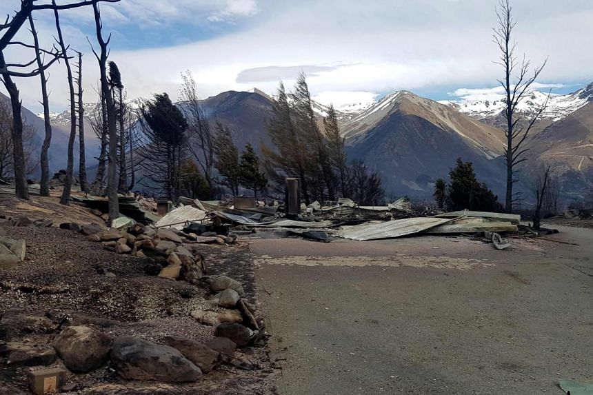 The wildfire erupted in a mountain forest on the South Island in the early hours of Sunday morning.