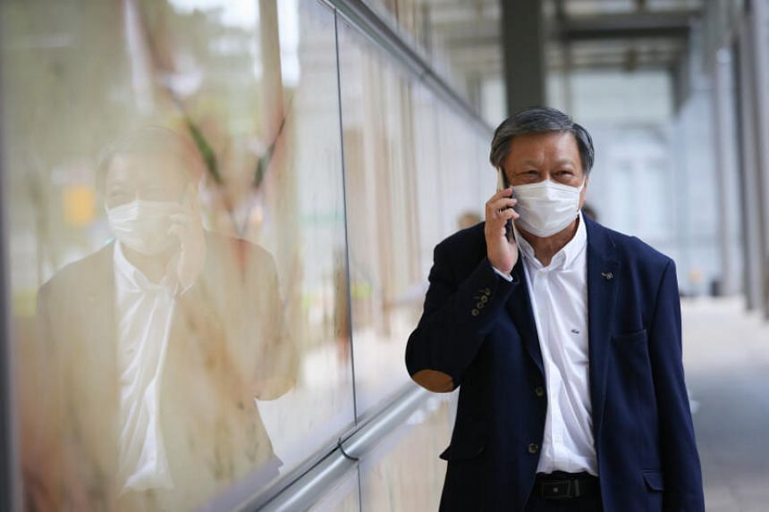 Financial adviser Leong Sze Hian leaving the Supreme Court during the lunch break, on Oct 7, 2020.