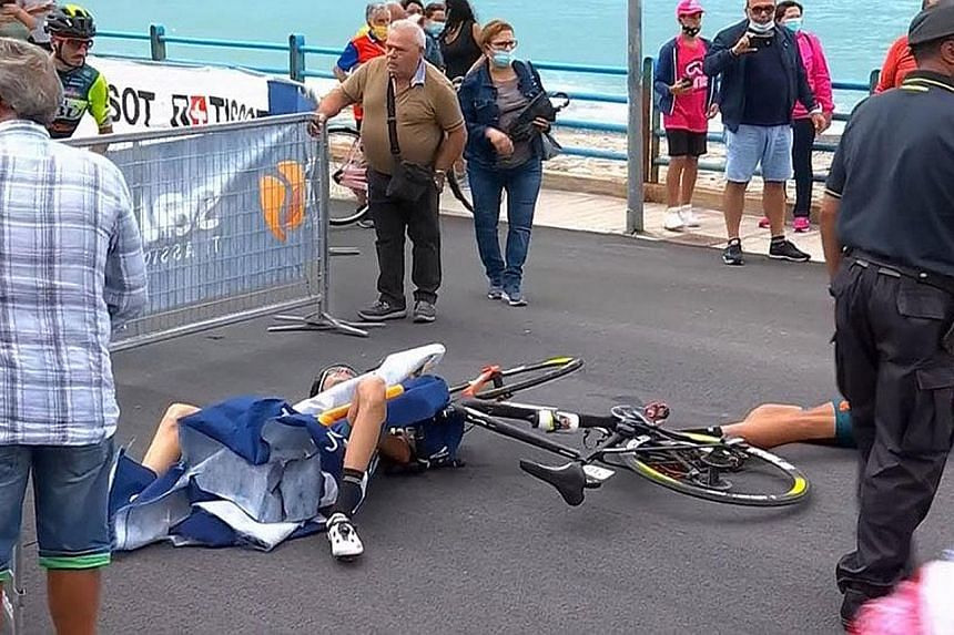 Helicopter causes crash that forces Luca Wackermann out with multiple injuries
