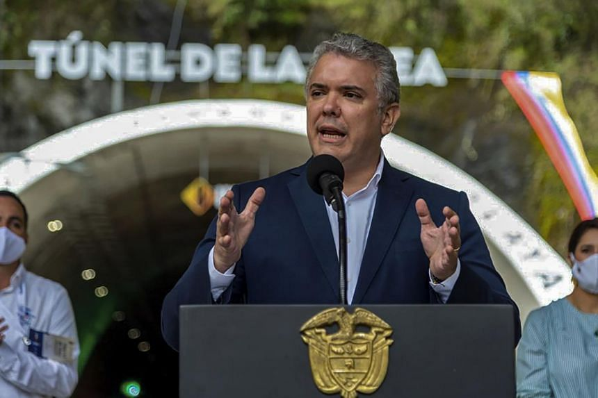 Colombia's President Ivan Duque called for two former FARC rebel commanders to be expelled from Congress.