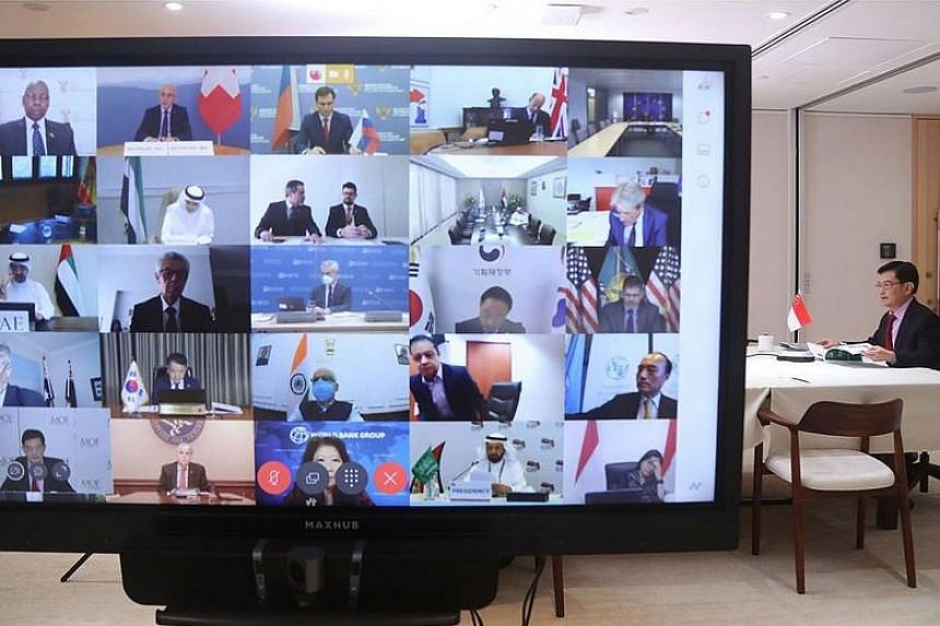 Deputy Prime Minister Heng Swee Keat yesterday took part in the virtual Joint Finance and Health Ministers Meeting.
