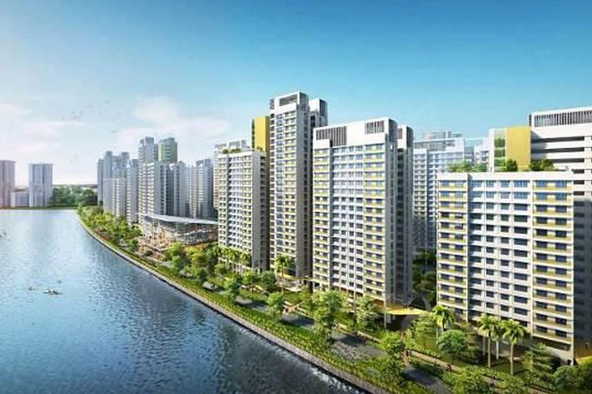 An artist's impression of the Punggol Northshore BTO project.