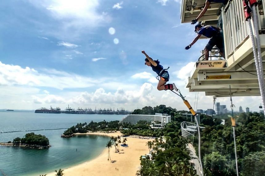 A bungee jump at AJ Hackett Sentosa now costs $69, down from $159 before the pandemic.