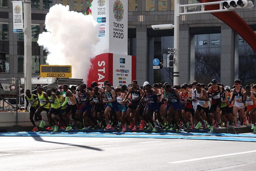 Runners at the start of the Tokyo Marathon 2020. The 2021 edition of the marathon has been postponed to after the Tokyo Olympic Games.