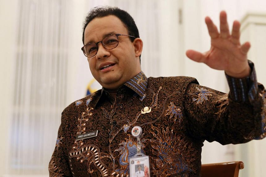 Jakarta Governor Anies Baswedan said he would inform President Joko Widodo of protesters' demand to repeal a new labour law.