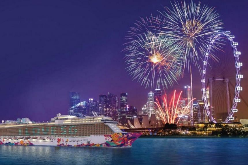 The World Dream cruise ship in a promotional photo supplied by Genting Cruise Lines.