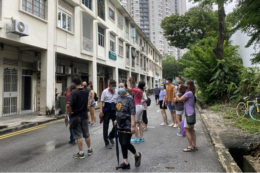 Participants gathered for the Red Light District Walking Tour from Keong Saik Road to Petain Road.