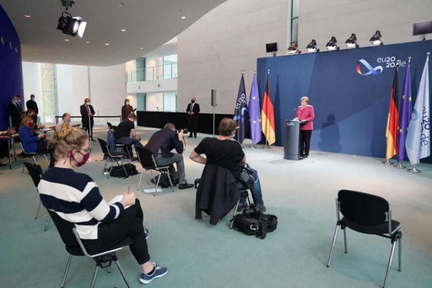 Chancellor Angela Merkel warned that coronavirus hot spots in Germany will be given 10 days to tackle the problem.