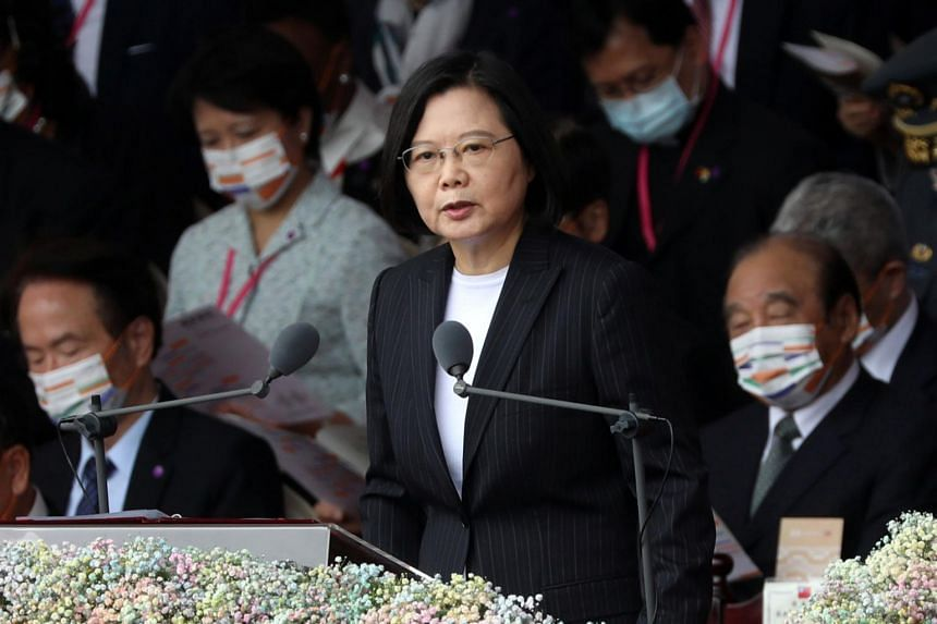 Ms Tsai said she was committed to maintaining stability in the Taiwan Strait, but that this was the responsibility of both sides.