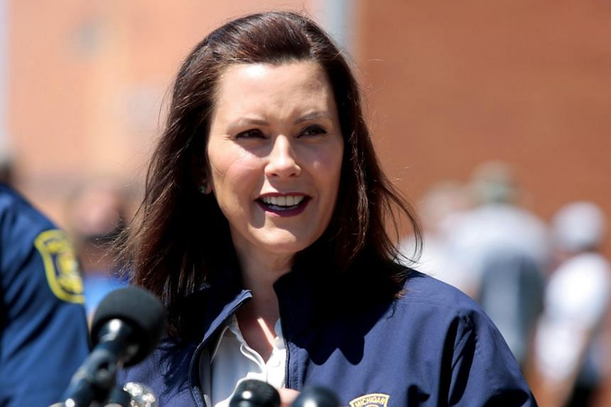 The men are accused of conspiring to abduct Michigan Governor Gretchen Whitmer (above).