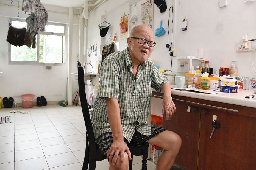 Mr Koh Phee Kai, who lives in a one-room flat, has been on the Long-Term Assistance scheme since 2016. He receives $418 a month. He applied for financial aid after being retrenched from his security guard job.