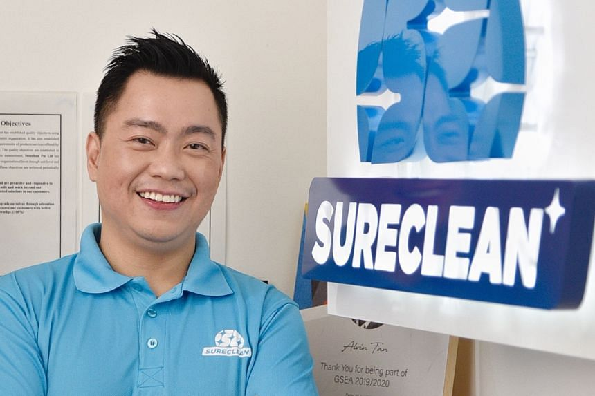 Mr Alvin Tan, founder and managing director of cleaning firm Sureclean, also puts his money in other firms that have stable track records and potential for growth in these volatile times.