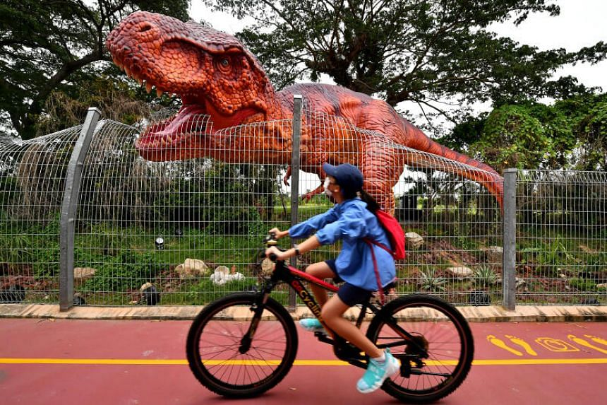 The main attraction along this 3.5km route is a permanent outdoor display of more than 20 dinosaur models.