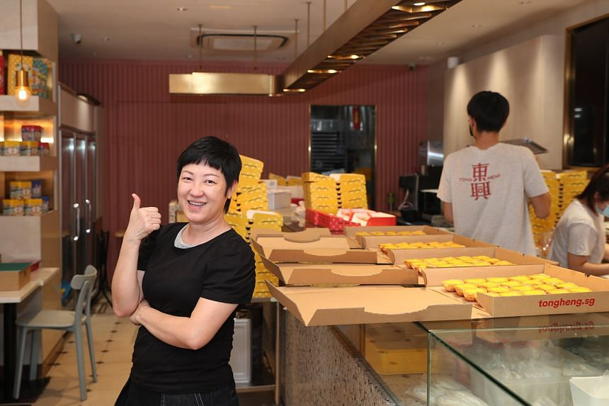Pastry shop Tong Heng's general manager Ana Fong at the family-run store, which sells traditional Cantonese pastries such as egg tarts, barbecue pork crisps and pork buns.
