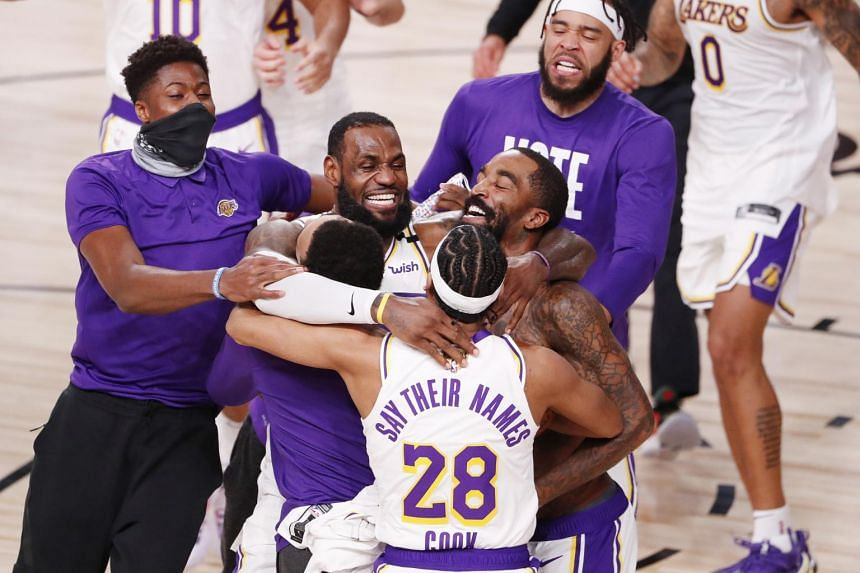 The Los Angeles Lakers won the final game against the Miami Heat 106-93.