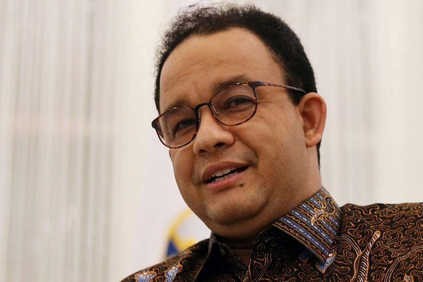 """Jakarta Governor Anies Baswedan noted there were """"early signs"""" that social restrictions were showing results."""