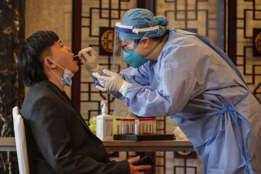 Daily Covid-19 infections in mainland China has fallen drastically from peaks early this year.