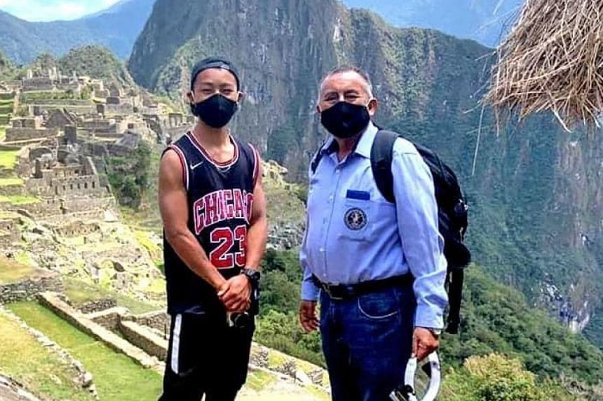 Jesse Takayama's (left) original plan had been to spend only a few days in Peru to take in Machu Picchu.