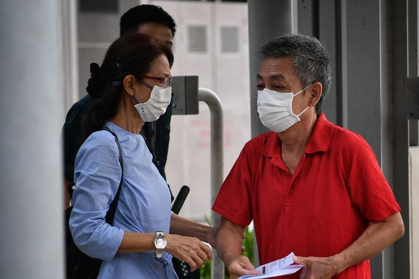 Tan Tian Chye, 66, leaving the Changi Prison Complex on Oct 12, 2020.