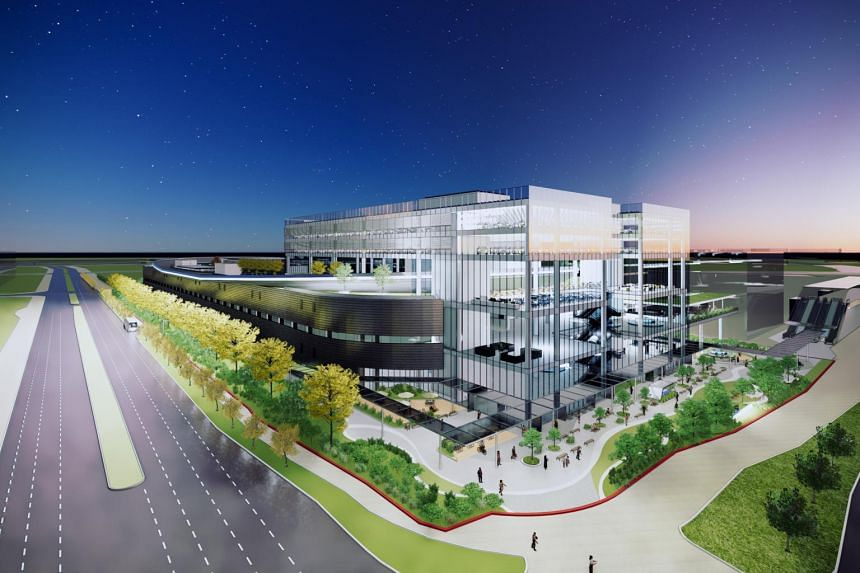 An artist's impression of the Hyundai Motor Group Innovation Centre in Jurong, to be completed by end-2022.