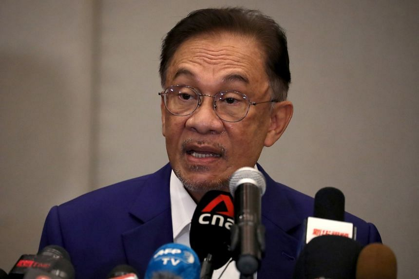Datuk Seri Anwar Ibrahim speaking during a press conference in Kuala Lumpur on Oct 13, 2020.