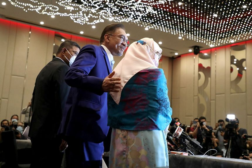 Datuk Seri Anwar Ibrahim at the end of a press conference in Kuala Lumpur on Oct 13, 2020.