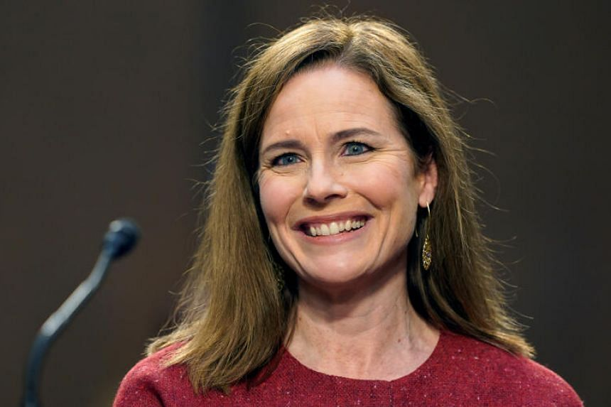 Amy Coney Barrett declined to say if she would consider stepping aside from the case.