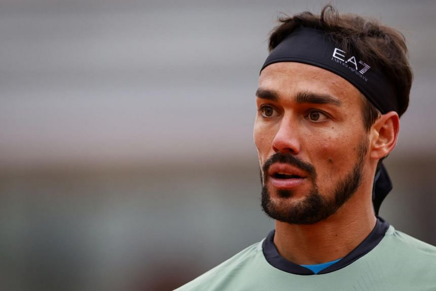 Fabio Fognini was set to open in the second round against Roberto Carballes Baena.