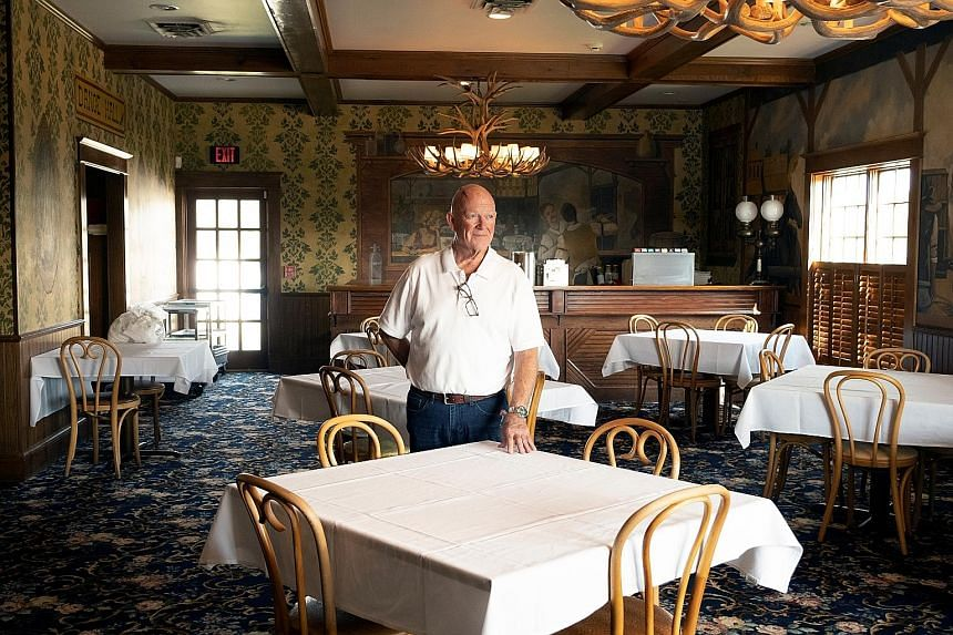 Mr Mark Martin (above) is the fourth generation to run Brookville Hotel in Abilene, Kansas, which closed permanently last month due to the coronavirus pandemic.