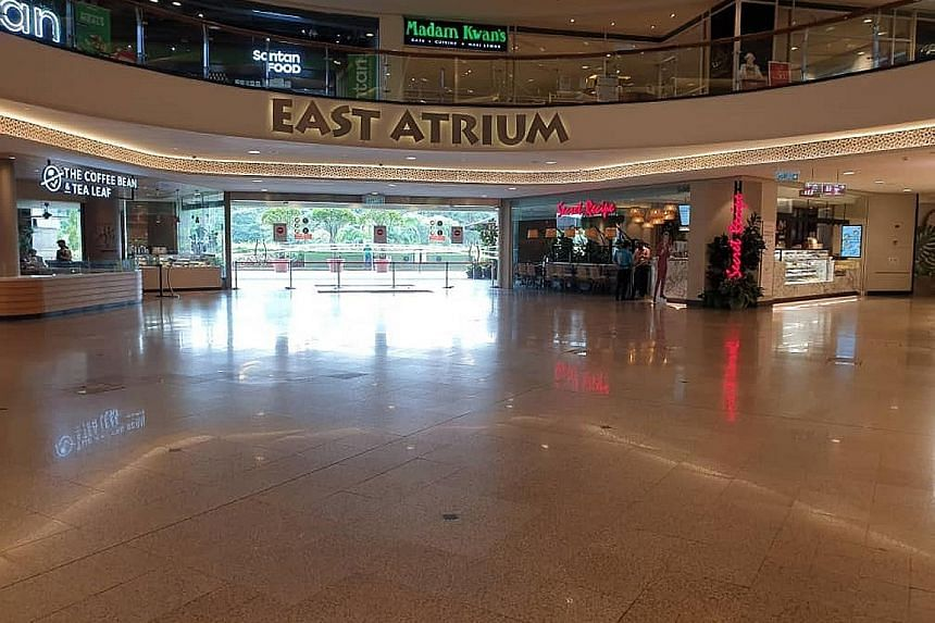 One of Malaysia's largest malls, Mid Valley Megamall in Kuala Lumpur, looked deserted yesterday. Malls and restaurants, which had started to fill up again in the last four months, remained open yesterday but had few customers. An officer with railway
