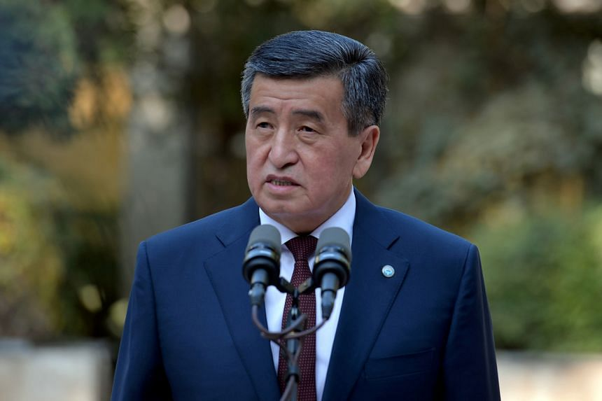 Kyrgyz President Sooronbai Jeenbekov resigned following unrest after a disputed election, on Oct 15, 2020.