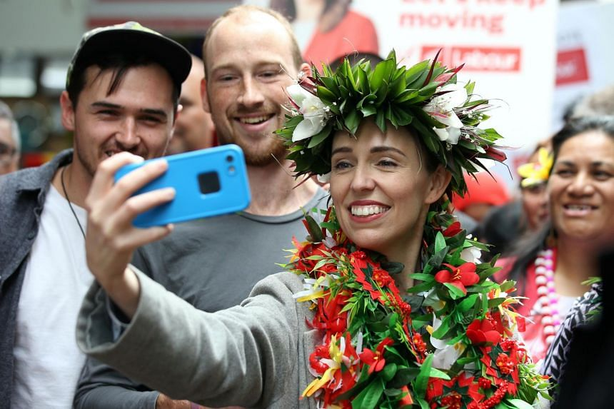 New Zealand Prime Minister Jacinda Ardern during a campaign outing in Auckland on Oct 10, 2020.
