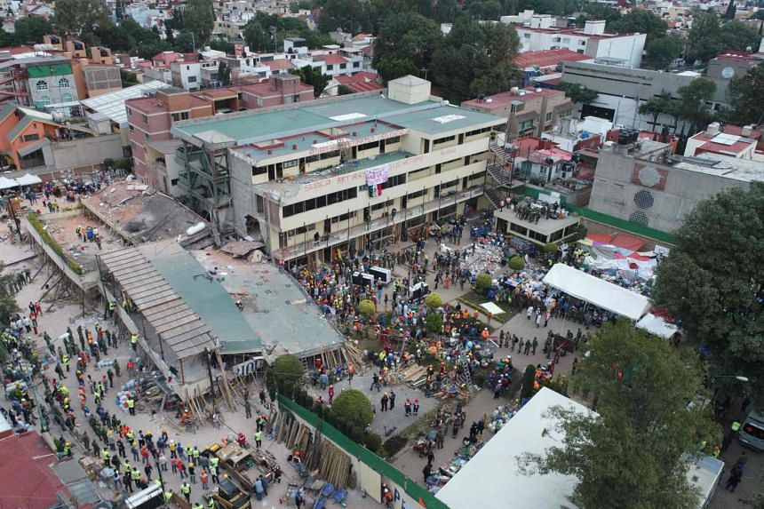 The school was the focus of worldwide attention in the hours after the 7.1-magnitude earthquake as rescuers raced to rescue survivors.