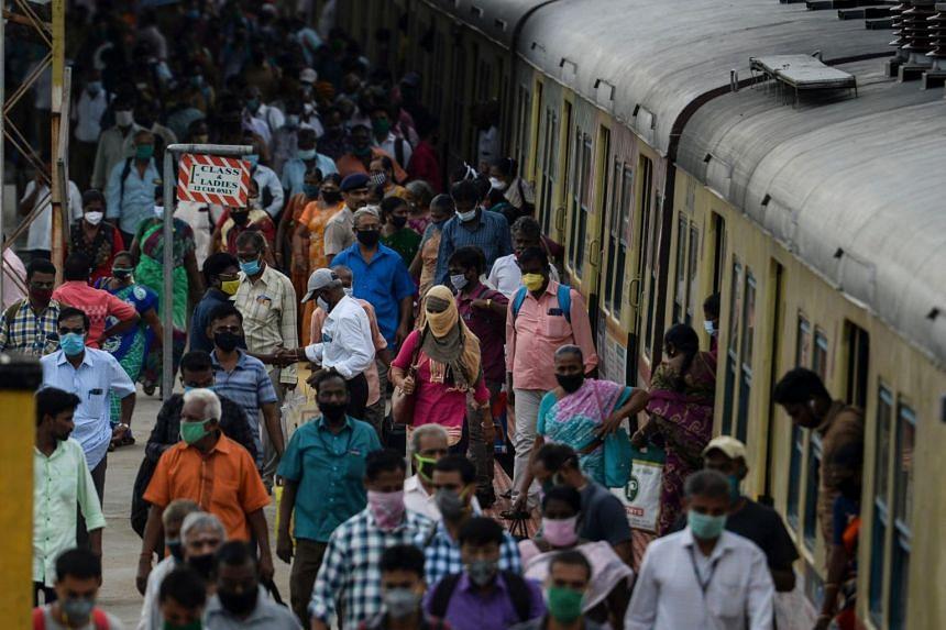 India's tally of coronavirus infections stood at 7.31 million on Oct 15.