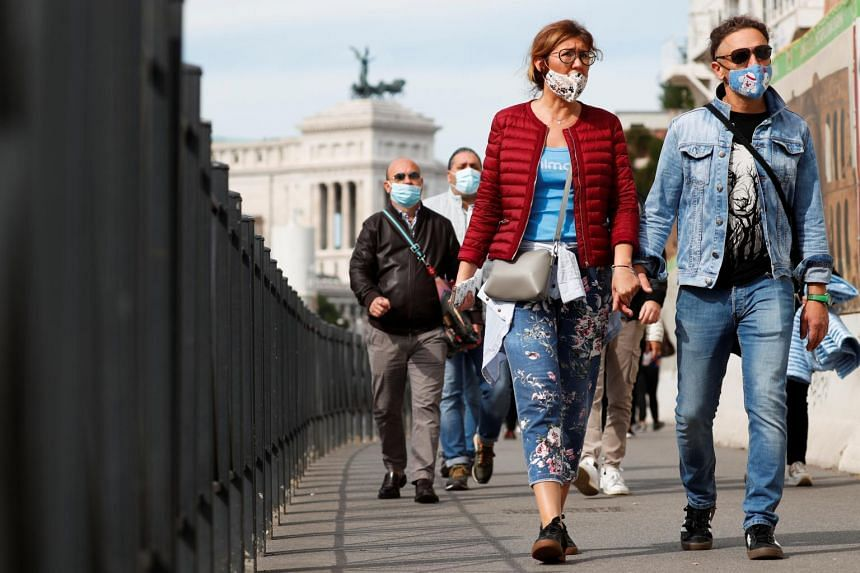 The resurgence in Italy, Europe's original epicentre for the virus, has so far been less severe than in neighboring France or in Spain.