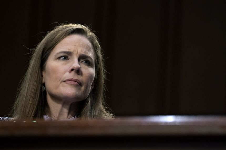 Mrs Amy Coney Barrett is US President Donald Trump's third nominee to the high court.