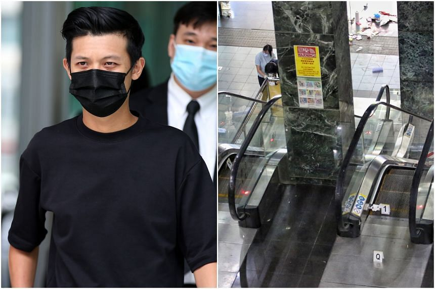 Mr Chan Jia Xing's charge was reduced to consorting with a person carrying an offensive weapon in a public place.